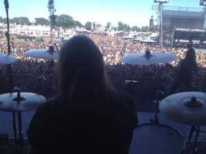 Tarald's view from the stage